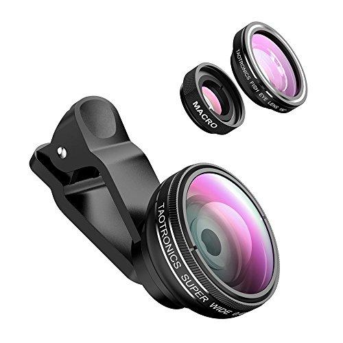Accesorios para móviles taotronics-lentes-para-mviles-kit-de-lentes-ojo-de-pez-marco-y-gran